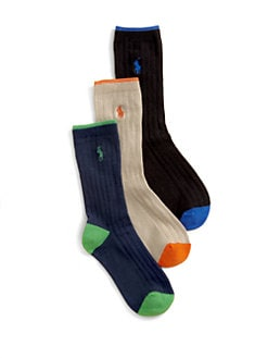 Ralph Lauren - Boy's Ribbed Dress Socks/3-Pack