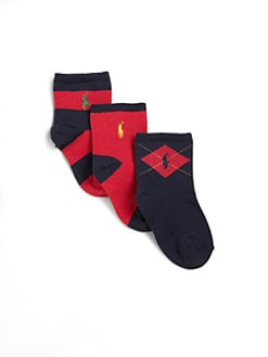 Ralph Lauren - Infant's Sporty Socks Three-Pack