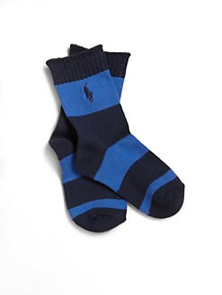 Ralph Lauren - Toddler's & Little Boy's Striped Crew Socks