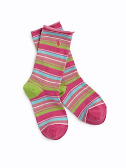 Ralph Lauren - Girl's Striped Socks
