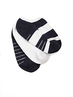 Ralph Lauren - Toddler's & Little Three-Pair Striped & Solid Ankle Socks