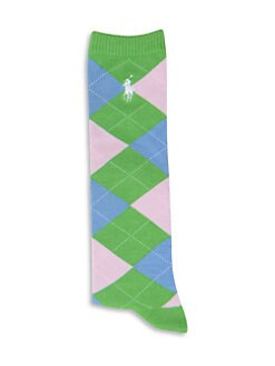 Ralph Lauren - Girl's Argyle Knee-High Socks