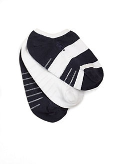 Ralph Lauren - Toddler's & Little Girl's Rugby Ankle Socks/3-Pack