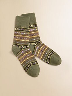 Ralph Lauren - Toddler's & Little Girl's Fair Isle Crew Socks
