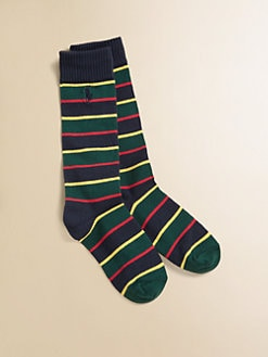Ralph Lauren - Toddler's & Little Girl's Striped Knee-High Socks
