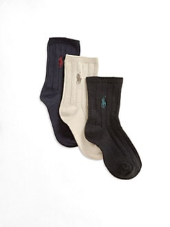 Ralph Lauren - Toddler's & Little Boy's Polo Socks/3-Pack