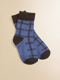 Ralph Lauren - Toddler's & Little Boy's Buffalo Plaid Socks