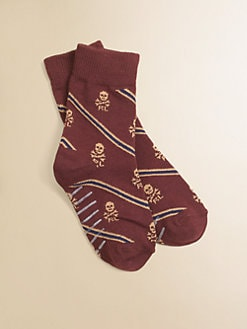 Ralph Lauren - Toddler's & Little Boy's Skulls & Stripes Socks