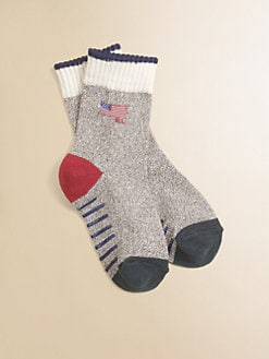 Ralph Lauren - Toddler's & Little Boy's Monkey Flag Crew Socks