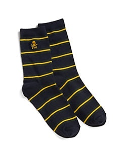 Ralph Lauren - Boy's Striped Slack Socks