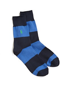 Ralph Lauren - Striped Crew Rugby Socks