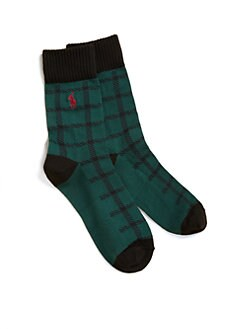Ralph Lauren - Boy's Buffalo Plaid Socks