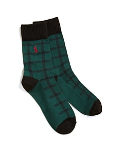 Ralph Lauren - Infant's, Toddler's & Boy's Buffalo Plaid Socks