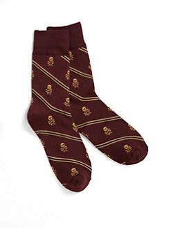 Ralph Lauren - Boy's Skull & Stripes Socks