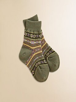 Ralph Lauren - Girl's Fair Isle Crew Socks
