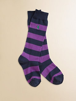 Ralph Lauren - Girl's Striped Rugby Knee-High Socks