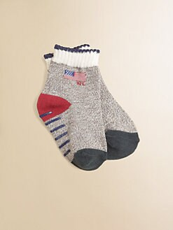 Ralph Lauren - Infant's Monkey Flag Socks