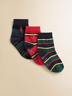 Ralph Lauren - Infant's Striped Socks/3-Pack