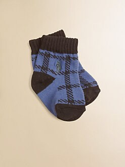 Ralph Lauren - Infant's (0-6mo) Buffalo Plaid Crew Socks