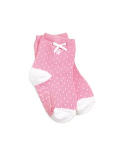Ralph Lauren - Infant's (0-6mo) Pindot Crew Socks