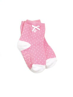 Ralph Lauren - Infant's Pindot Crew Socks