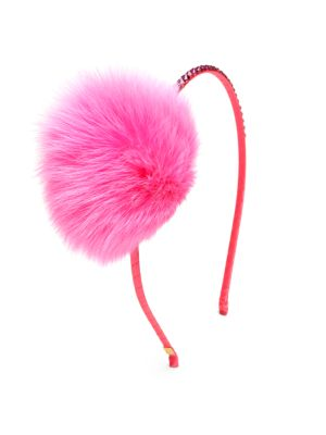 Girls Fur PomPom Headband