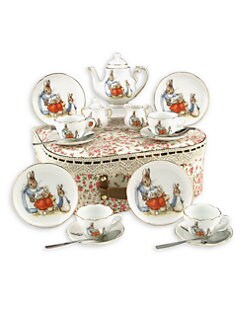 Reutter Porcelain - Kid's Beatrix Potter Medium 19-Piece Tea Party Set