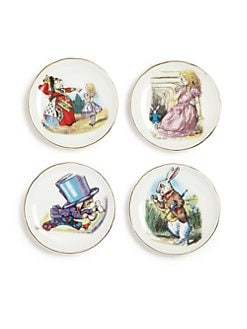 Reutter Porcelain - Kid's Alice In Wonderland Medium 19-Piece Tea Party Set
