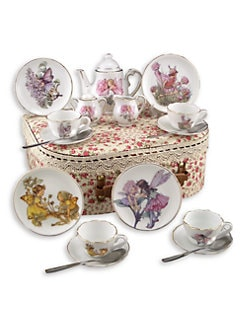 Reutter Porcelain - Kid's Flower Fairies Medium 19-Piece Tea Set