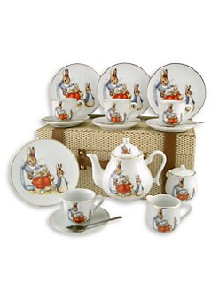 Reutter Porcelain - Kid's Beatrix Potter Large 19-Piece Tea Party Set