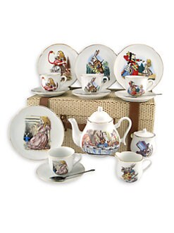 Reutter Porcelain - Kid's Alice In Wonderland Large 19-Piece Tea Party Set