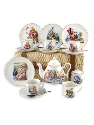 Kid's Alice In Wonderland Large 19-Piece Tea Party Set