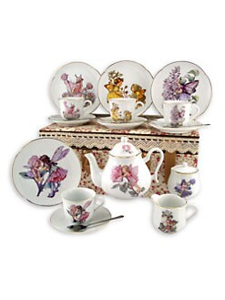 Reutter Porcelain - Kid's Flower Fairies Large 19-Piece Tea Set