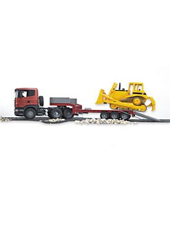 Bruder Toys - SCANIA R-Series Low Loader Truck & Bulldozer