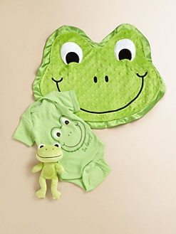 Happy Blankie - Infant's Stomp the Happy Frog Three-Piece Gift Set/Newborn