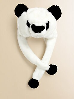 Portolano Kids - Toddler's & Girl's Panda Faux Fur Hat
