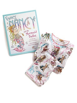 Books To Bed - Fancy Nancy & The Mermaid Ballet Book & Pajamas Three-Piece Set
