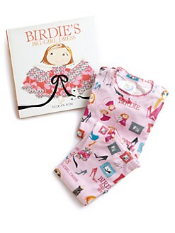 Books To Bed - Toddler's & Little Girl's Birdie's Big-Girl Dress Pajamas & Book Set