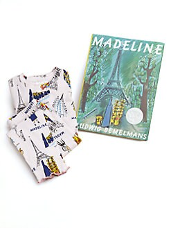Books To Bed - Toddler's & Little Girl's Madeline PJ & Book Set