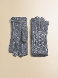 Portolano Kids - Toddler's & Girl's Cable-Knit Gloves
