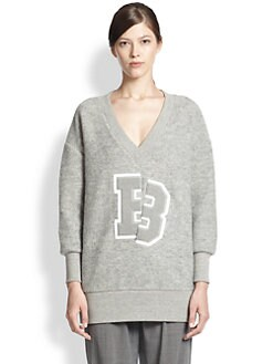 Band of Outsiders - Felted Fleece Varsity Sweatshirt