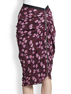 Band of Outsiders - Silk Cherry Blossom Skirt
