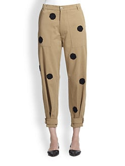 Band of Outsiders - Flower Applique Chino Pants