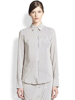 Band of Outsiders - Silk Crepe Easy Shirt