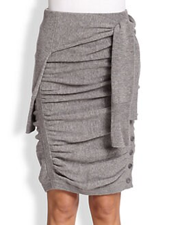 Band of Outsiders - Ruched Tie-Front Sweater Skirt