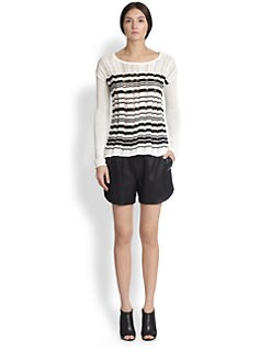 Tess Giberson - Drop-Stitch Striped Sweater