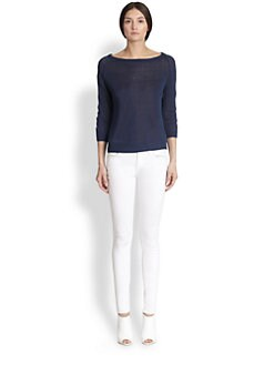 Tess Giberson - Linen Circle-Sleeve Sweater