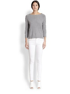 Tess Giberson - Cashmere Circle-Sleeve Sweater