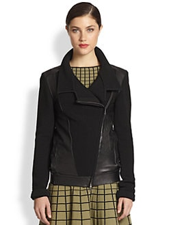 Ohne Titel - Knit & Leather Jacket