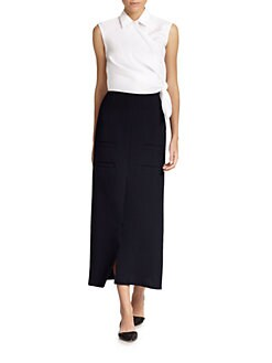 J.W. Anderson - Side-Knot Collared Top